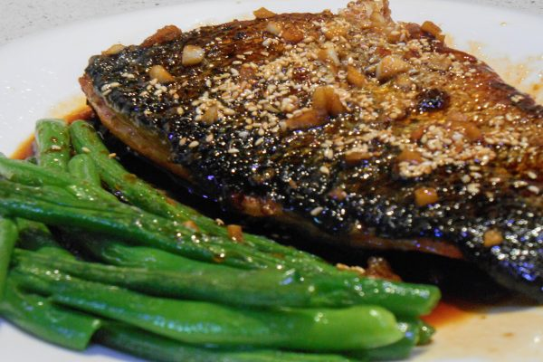 Salmon with Honey Soy