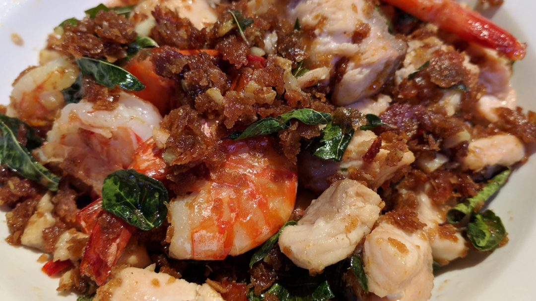 Seafood with Chilli & Oat Flakes