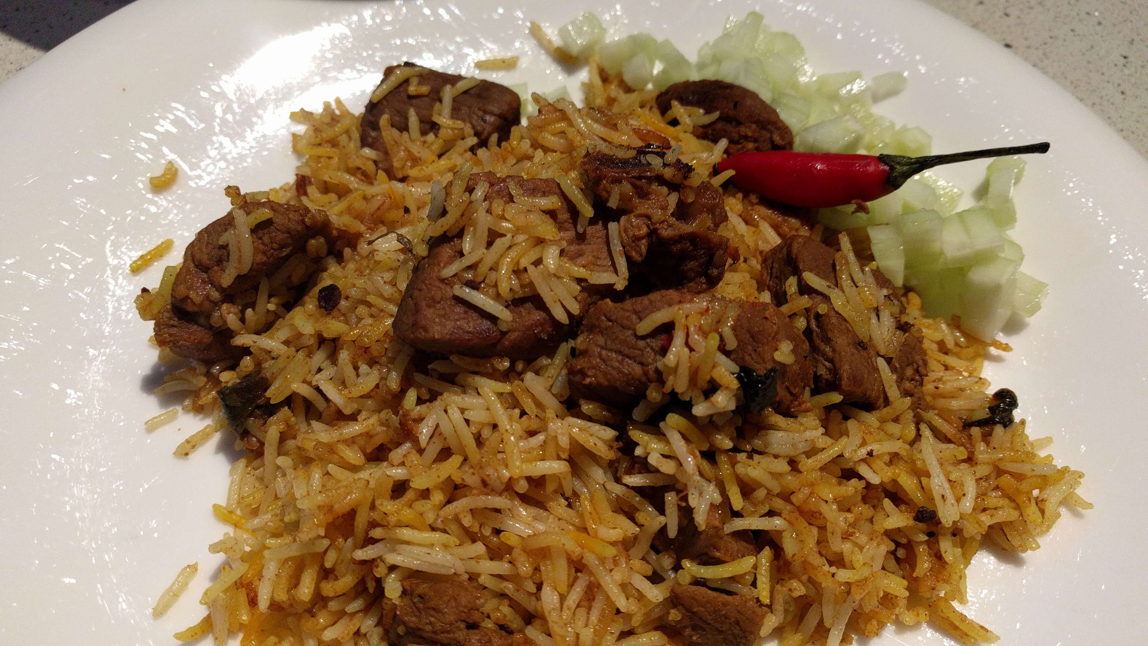 nasi biryani with lamb