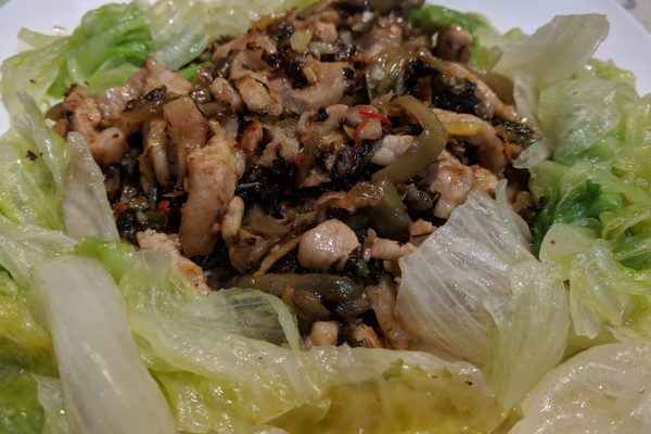 Fried Pork with Sichuan Vegetable