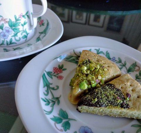 Pistachio Chocolate Shortbread